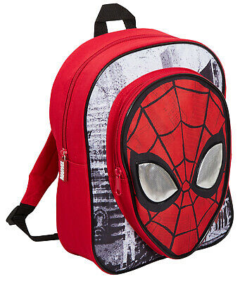 Boys Marvel Spiderman Backpack Kids Avengers School Travel Rucksack Lunch Bag
