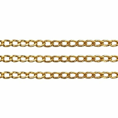 1m Chain Small Oval Link GOLD 5mm wide x 1m long Jewellery Making Craft