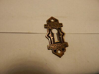 Antique Door Lock Key Hole Escutcheon Brass Eastlake B.L.W. (KH 5)