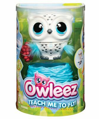 Owleez Flying Baby Owl Interactive Toy - White Brand New Fast Postage