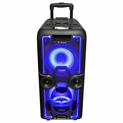 iDance Megabox 2000 Portable Bluetooth Party System with Wireless Microphone