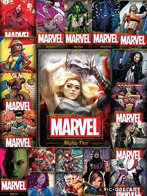 Topps Marvel Collect Heroines of Marvel Gold Set With Award