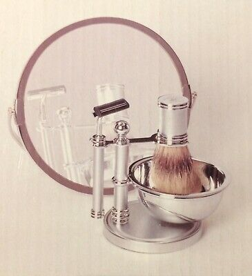 Beverly Hills Polo Club Silver 6 Piece Vintage Shaving Set NEW AND BOXED