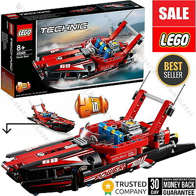 LEGO 42089 Technic Power Boat And Hydroplane 2 IN 1 Model Construction Toy Kit