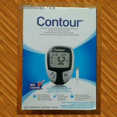 Bayer Contour Blood Glucose Monitor- Black Edition /Silver-Meter (New in Box )