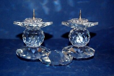 Swarovski 108 Crystal European Candle Holder Great for Christmas Candlestick
