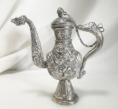 Vintage Islamic Silver Plated Small Ewer Pitcher  -  58327