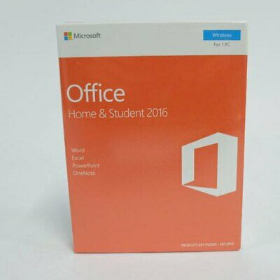 Pre-owned, Soft Ware Pc Key Card Inside, Microsoft Office Home & Student 2016