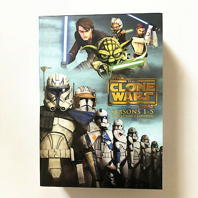 Star Wars - The Clone Wars - The Complete Seasons 1-5 (DVD, 2013, 19-Disc Set)