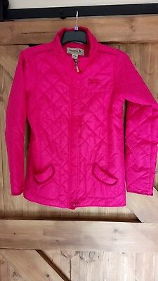 Girls Pink Lightweight quilted Regatta Riding Style Coat Jacket 164 cm 14 Yrs