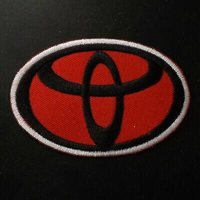"3.0""x1 pc. red toyota emblem motor auto racing embroidered iron on sew patches"