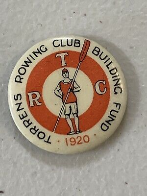 1920 Torrens Rowing Club Building Fund Button Badge