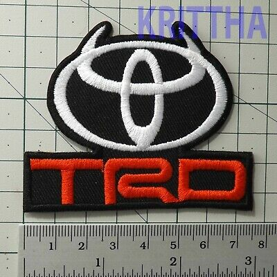 "3.0""x1 pc. toyota horn logo emblem motor racing embroidered iron on sew patches"