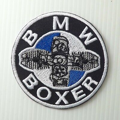 "3.0""x1 pc. bmw boxer motor big bike racing embroidered iron on sew patches"