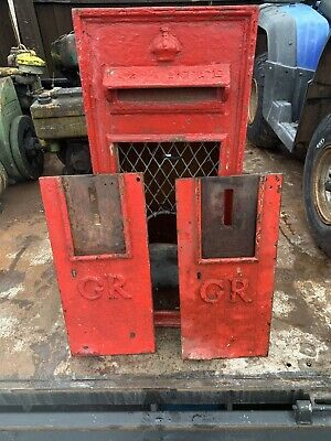 Genuine Original Gr Post Office Box Royal Mail Insert Wall Mounted Cast Iron Old