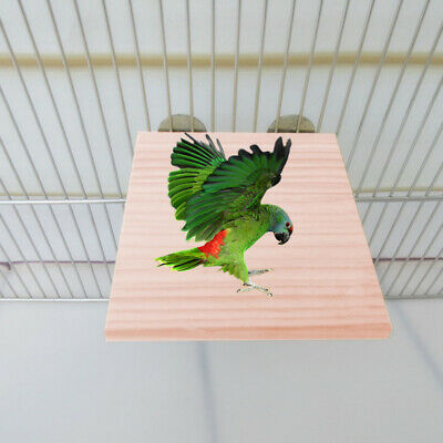 Pet Bird Parrot Chew Toy Wood Hanging Swing Cages Parakeet Stand Platform~GN
