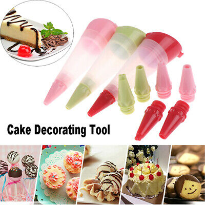 1pc Silicone Food Writing Pen Chocolate Biscuits Frosting Pipe Pastry Nozzle~GN