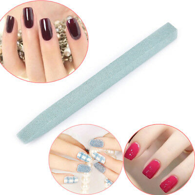 Nail Art Unique Stone Nail File Cuticle Remover Trimmer Buffer Manicure Tool~GN