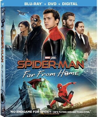 Spider-Man Far From Home, 2019 (Blu-Ray + DVD + Digital) New, With Slipcover
