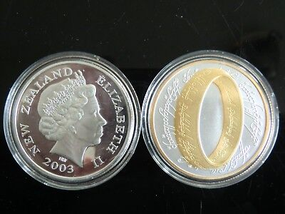 Lord Of The Rings 2003 Commemorative Gold/Silver Coin (New Zealand)