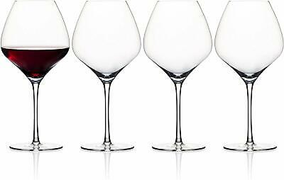 Andrew James Crystal GlasseS for Red Wine   XL 840ml   Gift Box Set of 4