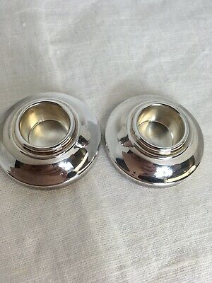 Pampaloni For Birks Travel Candlestick Holders Silver Plate With Storage Bag