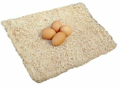 """10 Pack Excelsior Poultry Nesting Pads 13""""x13"""" Chicken Hens Nest Bedding"""