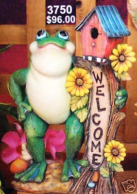 NEW ATTITUDE FROG MEDITATING 5 inches ready to paint CERAMIC BISQUE
