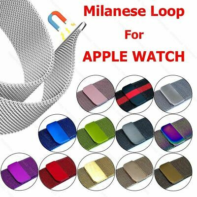 Milanese Loop Pulsera de Acero Inoxidable para Apple Reloj Serie 1/2/3 42mm 38