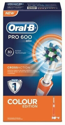 Cepillo Dental Braun Pro600 Cross Action Naranja