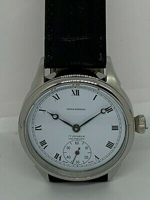 Wakmann Marriage Watch 6497 no.14 17J Runs Custom Dial pocket watch conversion