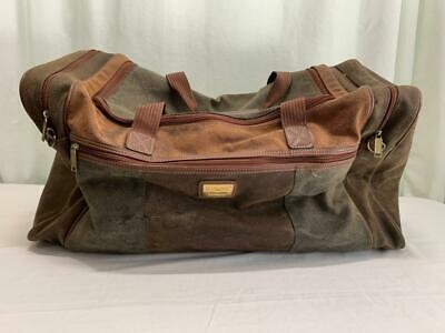 Vintage? Regent Moveasy Pebbled Leather? Travel Duffle/Weekender Browns & Green