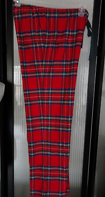 VINEYARD VINES Red Plaid PAJAMA LOUNGE Pants 100% Cotton Flannel MEDIUM New