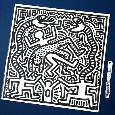 Keith Haring DJ 84 1983 Robot Music Pop Art Print Poster 11x14