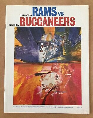 VINTAGE 1976 NFL TAMPA BAY BUCCANEERS FIRST EVER GAME FOOTBALL PROGRAM vs RAMS