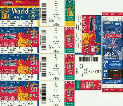 Cleveland Indians *Various* Game Ticket Stubs ~ U Pick From List