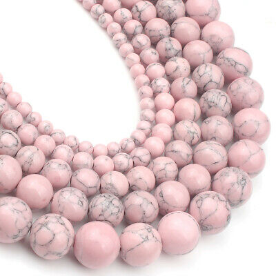 Natural Gemstone Pink Turqoise Round Spacer Loose Beads 8mm Assorted Stones