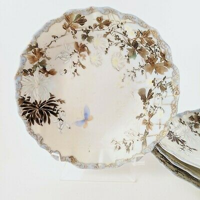 Fine Bone China, NUT/CANDY DISHES (4) Flowers Butterfly Chrysanthemums