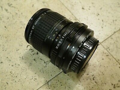 SMC Pentax 100mm f/4 Macro Lens 67 Late Model With P645 Adapter - EXC