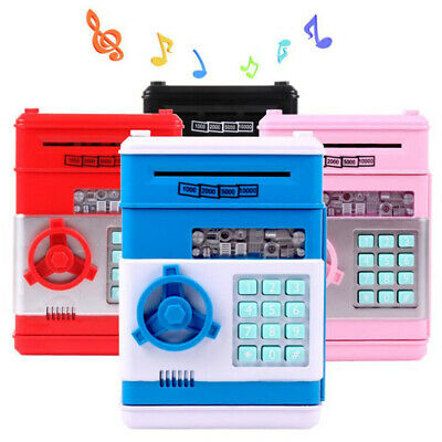 Electronic Piggy Bank ATM Password Money Box Cash Coins Saving Automatic Deposit