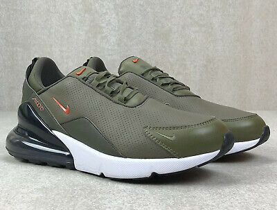 MENS NIKE AIR Max 270 Premium Leather Olive Athletic Fashion