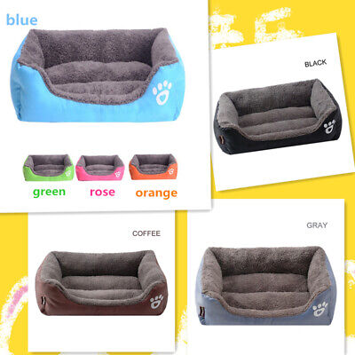 Large Square Pet Dog Cat Bed Puppy Cushion House Pet Soft Warm Kennel Mat Nest