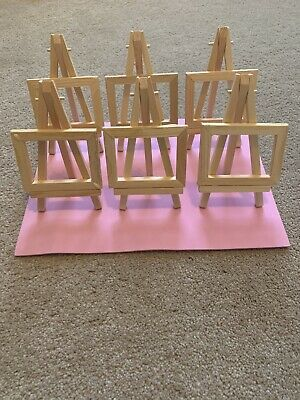 5 X Wooden Easels, With Stand And Frame For Display