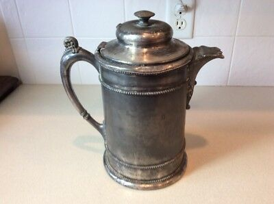 Vintage Forbes Silver Company Quadruple Insulated Ice Water Pitcher 450
