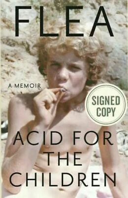 Autographed Flea Signed Book Acid For The Children ~ Red Hot Chili Peppers