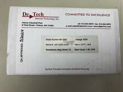 TWO DeTech Electron Multiplier Detector Complete Assembly; Model# XP-2203