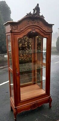 Victorian French Louis XV style armoire display cabinet...c1880