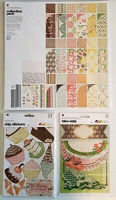 BasicGrey NOOK & PANTRY Collection Pack NEW! RARE! Chip Stickers, Journal Cards