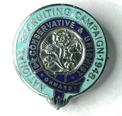 1948 Conservative Party National Recruiting Campaign Enamel Badge