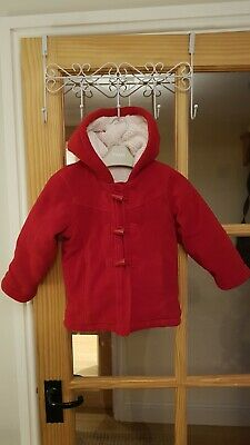Girls Red winter coat age 2-3 Mothercare